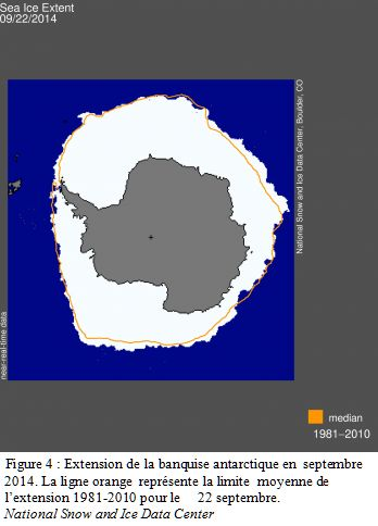Extension de la banquise antarctique en 2014